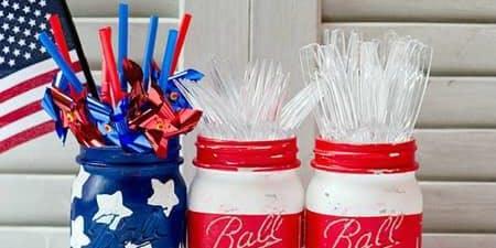 Paint & Pints- 4th of July Flag Jars!
