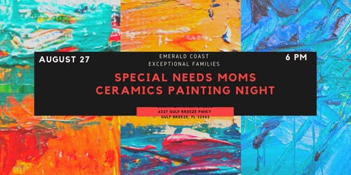 Special Needs Moms Ceramics Painting Night
