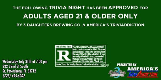 3 Daughters Brewing Presents: Risqué Triva, 21 and up!