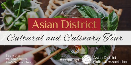 Asian District Cultural and Culinary Tour tickets