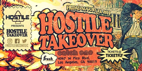 August 23 Fresh/Hostile in Disco Room / 18+ 8:30pm-2:00am tickets