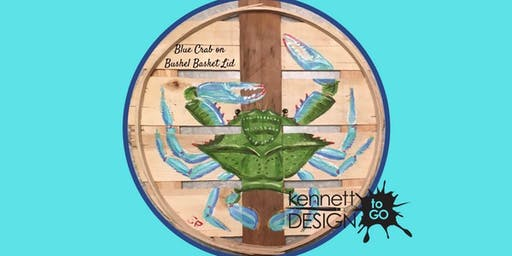 Crab Bushel Basket Lid - Paint & Sip