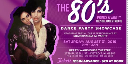 The 80's Prince and Vanity Dance Party Showcase