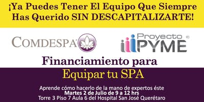 FINANCIAMIENTO PARA EQUIPAR TU SPA
