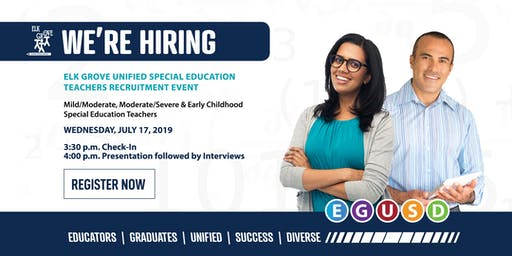 EGUSD Special Education Teachers Recruitment Event