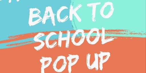 Back to school pop up shop