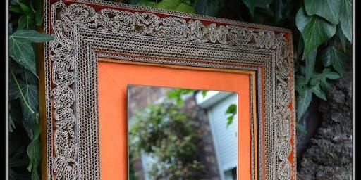 Encadrement de miroir - cartonnage