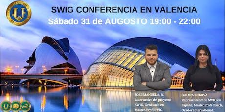 Te invitamos a nuestro evento de SWIG y STO CRYPTOUNIT en VALENCIA entradas