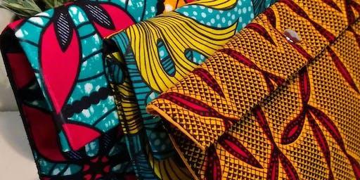 Création de pochettes en tissus ethniques
