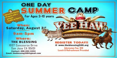 One Day Summer Camp for kids  Ages  3 - 10 years