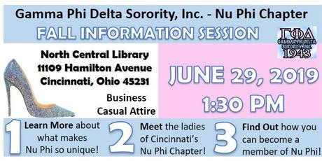 Gamma Phi Delta Sorority, Inc. - Nu Phi Chapter: Formal Information Session tickets