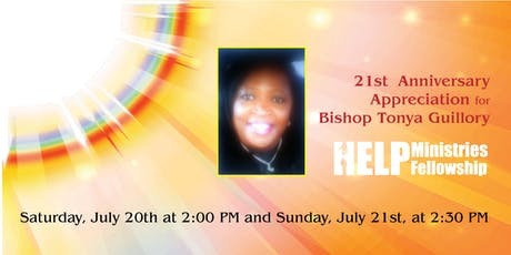 21st Anniversary  Appreciation for Bishop Tonya Guillory tickets