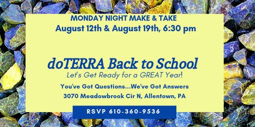 doTERRA Back to School Make & Take