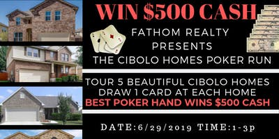 Win $500 CASH! - Come tour 5 homes in Cibolo by Fathom Realty!