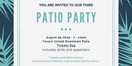 3rd Annual Manitoba SwimAbility Patio Party tickets