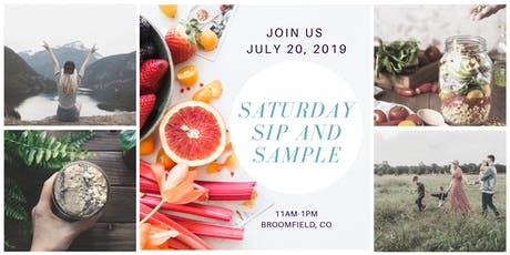 Saturday Sip and Sample tickets