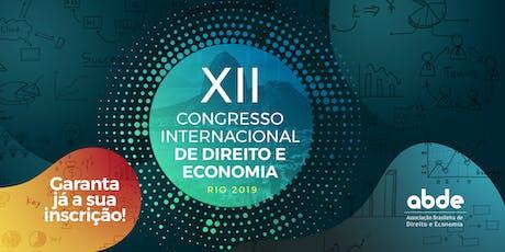 XII Congresso Internacional de Direito e Economia ingressos