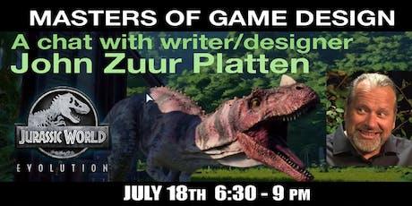 Masters of Game Design Speaker Series w/ John Zuur Platten tickets