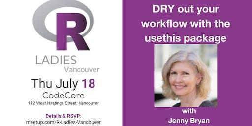R-Ladies Vancouver July event: Jenny Bryan @ CodeCore