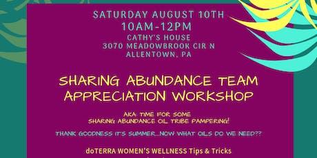 Sharing Abundance Team Appreciation Workshop tickets