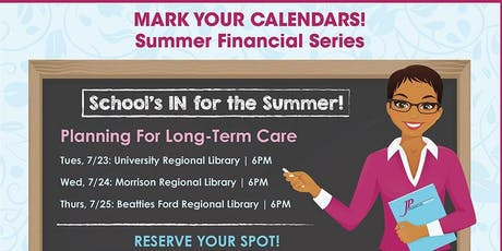 Summer Financial Series, Session #2 tickets
