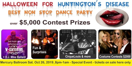 Halloween for Huntington's Disease - Mercury Ballroom Dance Party 2019