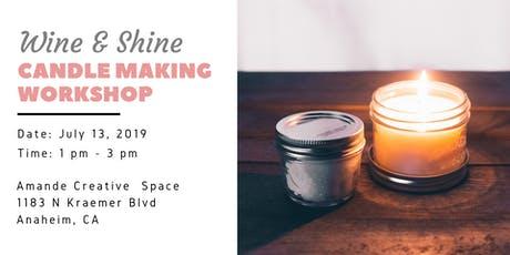 Scentful Escape: Wine & Shine Candle Making Workshop tickets