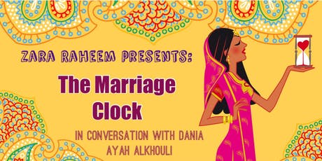 Book Launch: THE MARRIAGE CLOCK by Zara Raheem tickets