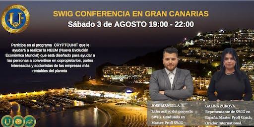 Te invitamos a nuestro evento de SWIG y STO CRYPTOUNIT en GRAN CANARIAS