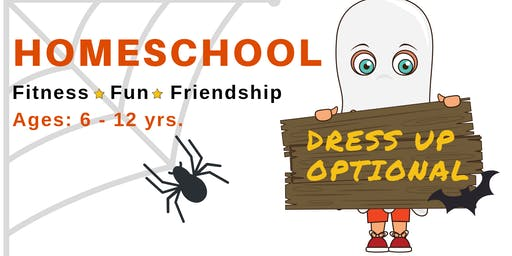 Homeschool Fitness * Fun * Friendship | Ages 6 - 12 yrs. | October 25th
