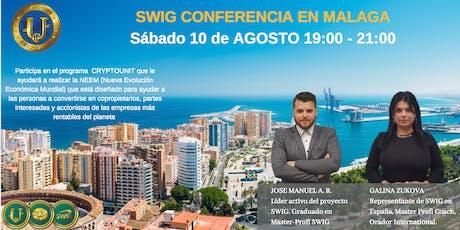Te invitamos a nuestro evento de SWIG y STO CRYPTOUNIT en MALAGA tickets