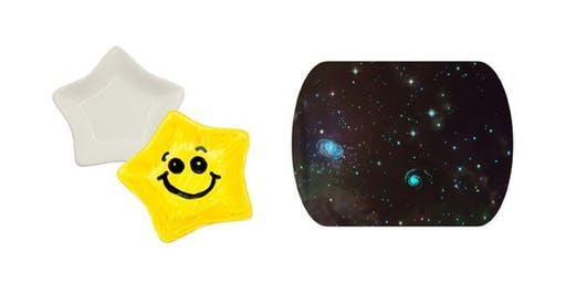 Porcelain star dishes and glow in the dark pillow cases (ages 9-12)