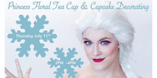 Princess Floral Tea Cup & Cupcake Decorating