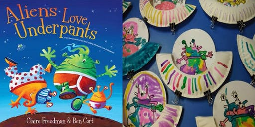 Aliens Love Underpants story and craft (ages 3-5)