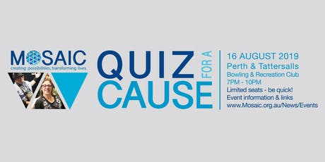 Mosaic Community Care Quiz for a Cause tickets