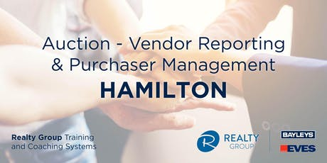 Auction - Vendor Reporting and Purchaser Management HAMILTON tickets