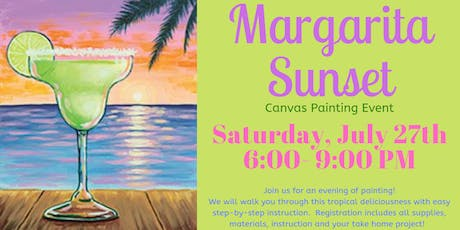 Margarita Sunset Canvas Painting Event tickets