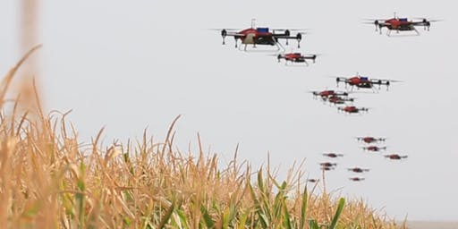 Demonstrating swarmed spray drones for broadacre agriculture