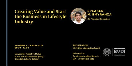 Creating Value and Start the Business in Lifestyle Industry tickets