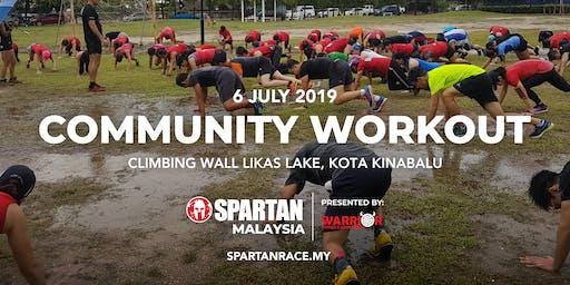 KK Free Spartan Community Workout- Climbing Wall Likas Lake ( 6th July 2019 )