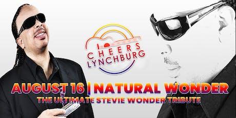 NATURAL WONDER (A STEVIE WONDER TRIBUTE) - CHEERS LYNCHBURG tickets