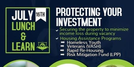 Landlord Lunch & Learn- Protecting Your Investment tickets