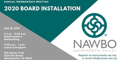 Annual Membership Meeting & 2020 Board Installation