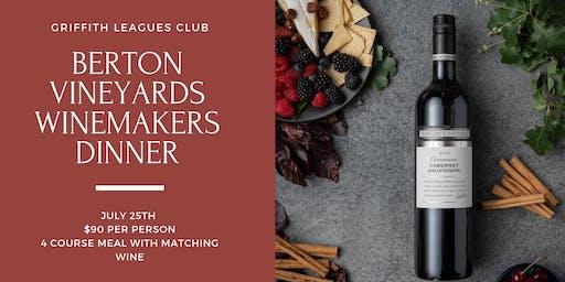 Berton Vineyards Winemaker's Dinner
