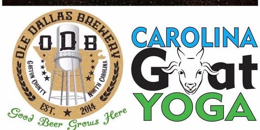 Ole Dallas Brewery & Carolina Goat Yoga Fall Class