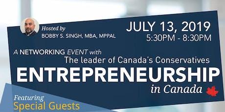Entrepreneurship in Canada tickets