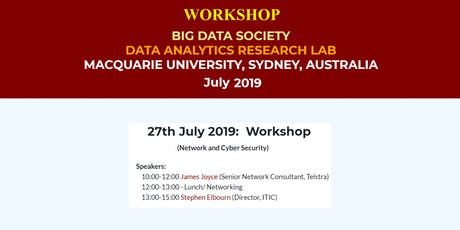 BigDataSociety Workshop: Network and Cyber Security tickets