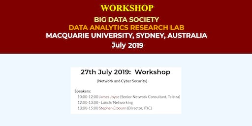 BigDataSociety Workshop: Network and Cyber Security