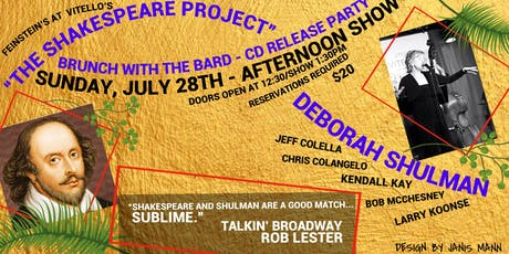 "Brunch with the Bard  - CD Release Party for ""The Shakespeare Project"" tickets"