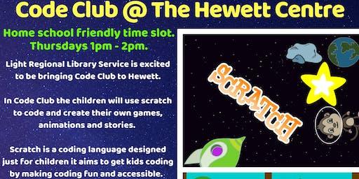 Term 3 Light Library Code Club @ The Hewett Centre